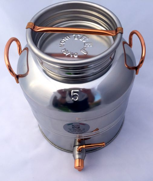Fust 5 Liter Inox/Kupfer